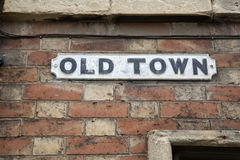 Old Town Street Sign Royalty Free Stock Image