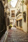 Old town street with Spanish architecture