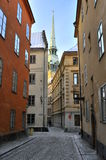 Old town street stockholm Stock Photography