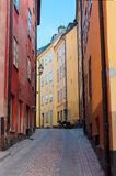 Old town street in Stockholm, Sweden Royalty Free Stock Photo