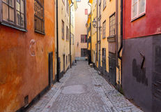 Old town street in Stockholm, Sweden Royalty Free Stock Photos