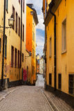 Old town street in Stockholm, Sweden Stock Images