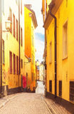 Old town street in Stockholm, Sweden Royalty Free Stock Photography