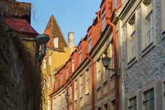 Old town street of Tallinn city Royalty Free Stock Photo
