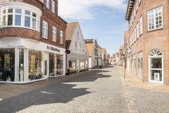 Old town street - Tonder, Denmark. Stock Image