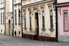 Old town street in Veszprem Stock Photography