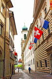 Old town street view Lucerne Switzerland Stock Photos