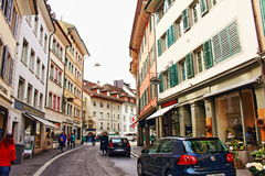 Old town street view Lucerne Switzerland Stock Photo
