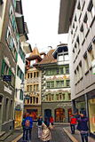 Old town street view Lucerne Switzerland Stock Image
