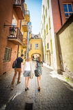 Old town street in Warsaw, Poland, Europe. Stock Image