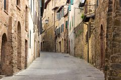 Montalcino city in Tuscany in Italy Royalty Free Stock Images