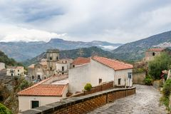 Old town streets. Savoca old town. City of Godfather film. Sicily, Italy Stock Images