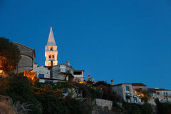 Old town in sunset Stock Photography
