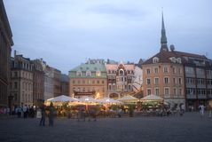 Old town at sunset, Riga, Latvia Royalty Free Stock Photos
