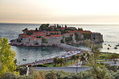 Old town of Sveti Stefan Stock Images