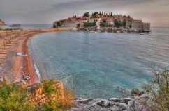 Old town of Sveti Stefan Royalty Free Stock Photo
