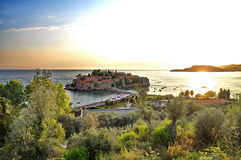 Old town of Sveti Stefan Stock Image