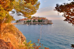 Old town of Sveti Stefan Royalty Free Stock Photography
