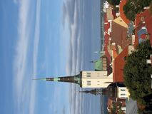 Old town of Tallin. Tallinn - capital of Estonia; view over the Tallin Old Town. The Tallinn Old Town became a UNESCO World Cultural Heritage site in 1997 stock photo