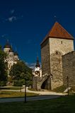 Old town of tallin. A view of the Alksander Nevsky Cathedral and part of the old town of Tallin, Estonia Stock Images