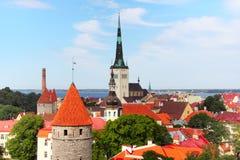 Old Town of Tallinn Stock Photo