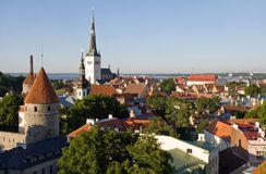 Old Town of Tallinn. View over the Old Town of Tallinn, which is a UNESCO World Cultural Heritage site in Estonia Royalty Free Stock Photo