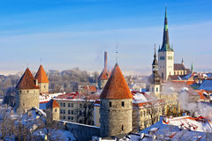 Old town. Tallinn,  Estonia Royalty Free Stock Photos