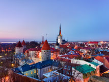 Old town of Tallinn Estonia Stock Photo