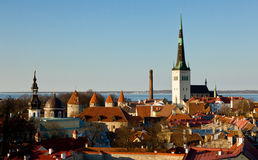 Old town of Tallinn Estonia Stock Image