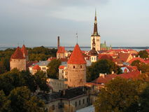 Old town of Tallinn, Estonia. Tallinn - capital of Estonia; view over the Old Town. The Tallinn Old Town became a UNESCO World Cultural Heritage site in 1997