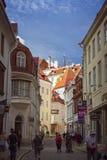 Old town Tallinn, Estonia. Popular streets of the old town in Tallinn, Estonia Royalty Free Stock Image