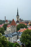 Old Town of Tallinn in Estonia. It's raining. Stock Image