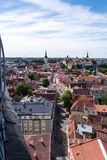 Tallinn old town seen from Oleviste church tower. The old town of Tallinn, Estonia, seen from the Oleviste church tower on a summer day Royalty Free Stock Photo