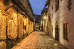 Old Town of Tallinn, Estonia. View of St. Catherine`s Passage, Old Town of Tallinn, Estonia stock photos