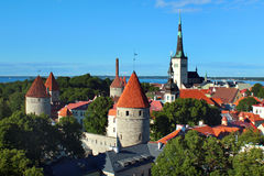 Old town of Tallinn, Estonia. View from Toompea hill Stock Photography