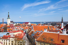 Old town of Tallinn panoramic view Stock Image