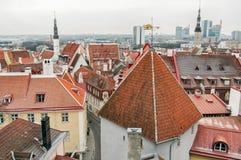 Old Town Of Tallinn Rooftops, Estonia Stock Images