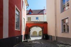 Old town of Tallinn, street fragment Royalty Free Stock Photo