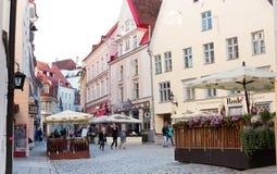 Old Town Tallinn Summer Vibes stock image