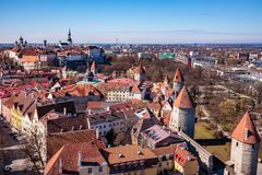 Old Town Tallinn stock photo