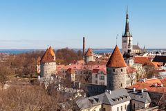 Old Town Tallinn stock images