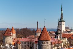Old Town Tallinn stock photography