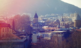 Old town of Tbilisi city in evening Royalty Free Stock Photo