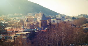 Old town of Tbilisi city in the evening Royalty Free Stock Photo
