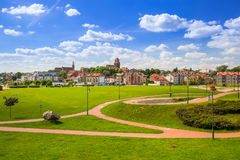 Old town of Tczew at Vistula river. Poland Stock Photography