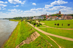 Old town of Tczew at Vistula river. Poland Stock Images