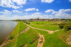 Old town of Tczew at Vistula river Stock Photography