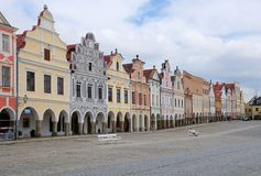 Old town Telc,Czech republic Royalty Free Stock Image
