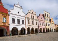 Old town Telc,Czech republic Stock Photos