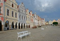 Old town Telc,Czech republic Stock Images
